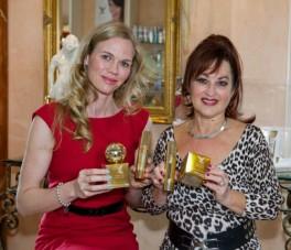 Katrina Webb, Paralympic Gold Medalist, ambassador for Yaffa Zhav Beauty with Nature Skin Care. Left – Katrina Webb with Right – Yaffa Zhav CEO